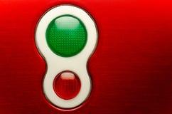 Rote und grüne Leuchten Lizenzfreie Stockfotos