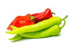 Rote und grüne Pfeffer Stockfotografie