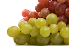 Rote und grüne Traubennahaufnahme stockfoto