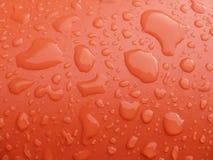 Rote und nasse Oberfläche Lizenzfreies Stockbild