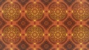 Rote und orange Weinlese-dekorative Muster-Tapete lizenzfreie abbildung