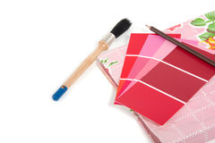 Rote und rosafarbene Farbenproben Lizenzfreies Stockfoto
