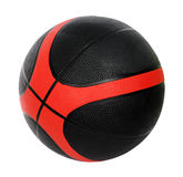 Rote und schwarze Basketballkugel Stockfoto
