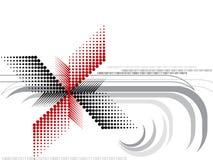 Rote und schwarze Halbtondrehbeschleunigung Lizenzfreie Stockbilder