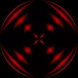 Rote und schwarze Kugel Stockbild