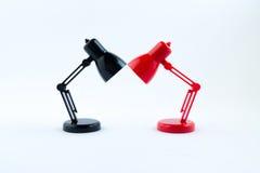 Rote und schwarze Lampe Lizenzfreie Stockfotografie