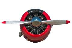 Rote und schwarze Maschine und Propeller des Texaner-AT-6 lizenzfreies stockbild
