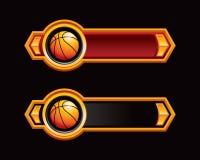 Rote und schwarze Pfeile mit Basketball stock abbildung