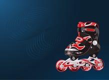 Rote und schwarze rollerscates Stockbild