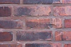 Rote und schwarze rustikale alte Backsteinmauerbeschaffenheit Lizenzfreies Stockbild