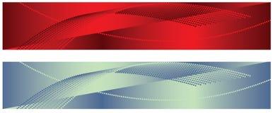 Rote und weiße Hintergründe Stockfotos