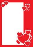 Rote und weiße Innere, dekorativer Rand vektor abbildung