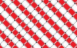 Rote und weiße karierte Tischdeckenfahne Masern Sie für: Tischdecken, Kleidung, Hemden, Kleider, Papier, Bettwäsche, Decken, Step lizenzfreie abbildung