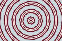 Rote und weiße Kreise Stockfotos