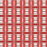 Rote und weiße Linie Design lizenzfreie abbildung