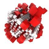 Rote und weiße Struktur Stockfotografie