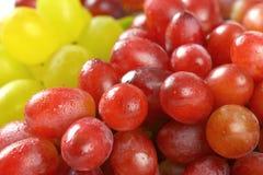 Rote und weiße Trauben Lizenzfreie Stockfotos
