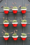 Rote und weiße Vasen Lizenzfreies Stockfoto