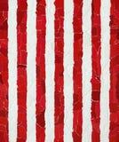 Rote und weiße vertikale Streifen Stockfotos