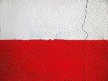 Rote und weiße Wand Stockbild