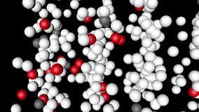 Rote und weiße Bälle schlingen das Bewegen, Wiedergabe 3D stock footage