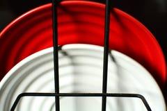 Rote und wei?e Kombination lizenzfreies stockfoto