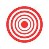 Rote Vektorillustration des Bogenschießens des Ziels auf weißem Hintergrund stock abbildung
