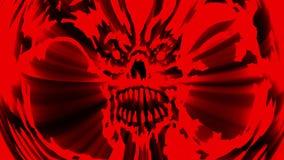 Rote verärgerte Vampirsschädelanimation stock footage