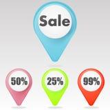 Rote ` Verkauf ` Ikone Lizenzfreie Stockfotos