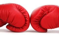Rote Verpacken-Handschuhe lizenzfreie stockfotos