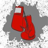 Rote Verpackenhandschuhe Stockfoto