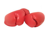 Rote Verpackenhandschuhe Lizenzfreie Stockfotografie
