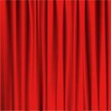 Rote Vorhangtheater-Vektorillustration Stockbilder