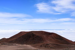 Rote vulkanische Krater Stockfotografie