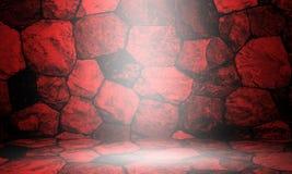 Rote Wände des Bluts Stockfotografie