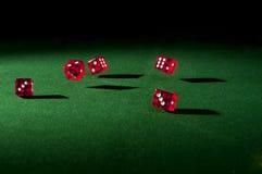Rote Würfel Lizenzfreies Stockfoto