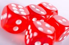 Rote Würfel Stockfoto