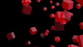 Rote Würfel auf schwarzem Hintergrund vektor abbildung