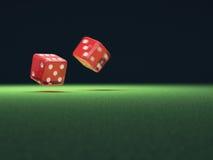Rote Würfel in der Bewegung Lizenzfreie Stockfotos