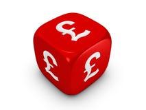 Rote Würfel mit Poundzeichen Lizenzfreie Stockfotografie