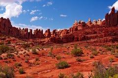 Rote Wüste Stockfotos