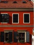 Rote Wand lizenzfreie stockfotografie