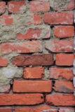 Rote Wand des Beschaffenheitshintergrundes eines Altbaus Lizenzfreies Stockbild