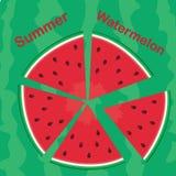 Rote Wassermelonenscheiben Stockbilder