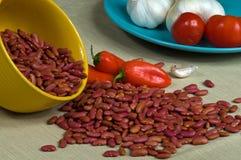 Rote weiße Bohnen Lizenzfreies Stockbild