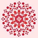 Rote weiße Mandala Lizenzfreies Stockbild
