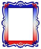 Rote, weiße und blaue Feld-Grenze Stockfotografie