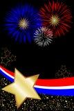 Rote weiße und blaue Feuerwerke Lizenzfreies Stockfoto