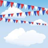 Rote, weiße und blaue Flagge Stockfotos