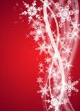 Rote Weihnachts-/Winterauslegung stock abbildung